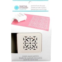 MARTHA STEWART ORNATE SQUARE PATTERN PUNCH ALL OVER THE PAGE