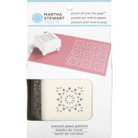 MARTHA STEWART PNCH ALL OVR PATTRN STAIN GLSS