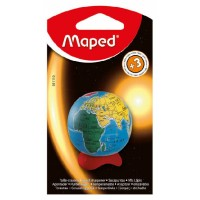 Maped Sharpner 1Hole Globe Blister Pack