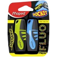 Maped Fluo Peps Highlighter  Classic Asst Blister Pack of 2 Pcs