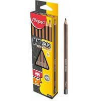 Maped Black Peps Learning Jumbo HB Pencils Box of 12