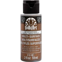 FOLKART MULTI-SURFACE Specialty Paint - METALLIC CHOCOLATE BROWN