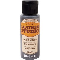 LEATHER STUDIO PAINT METALLIC GUNMETAL 2 OZ.