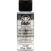 FOLKART MULTI-SURFACE Specialty Paint - METALLIC STERLING SILVER
