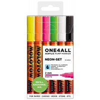 MOLOTOW™ 127HS Neon-Set - 2mm, Pkt of 6