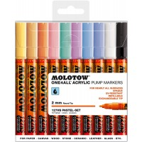 MOLOTOW™ 127HS Pastel-Set - 2mm, Pkt of 10