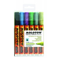 MOLOTOW™ 227HS Metallic-Set - 4mm, Pkt of 6