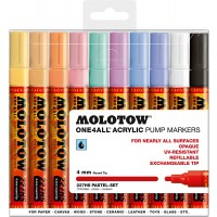 MOLOTOW™ 227HS Pastel-Set - 4mm pkt of 10