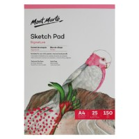 Mont Marte Signature Sketch Pad 150gsm 25 Sheet A4 210 x 297mm (8.3 x 11.7in)