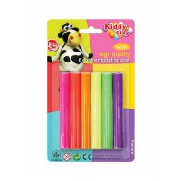 Kiddy Clay Modeling Clay set of 6 Neon Color
