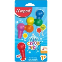 Maped Early Age Baby Crayons Blister of 6 Colors