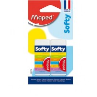 Maped Eraser Softy Blister Pack of 2pcs