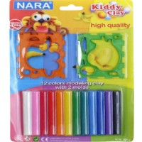 Kiddy Clay 12 Color Round Sticks Clay 200G