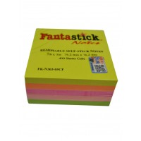 "Fantastick Sticky Notes 3""x3"" 5col. Fluorecent."