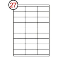 Formtec Label 2700/70x30mm #27 Box of 100 Sheets