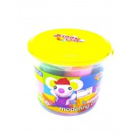Kiddy Clay Modeling Clay 7 Color Bucket Yellow Lid