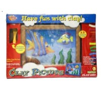 Kiddy Clay Mdling Clay and Plastic Picture Frame
