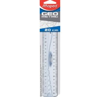 Maped Ruler 20cm Geometric Grip