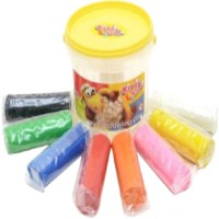 Kiddy Clay Modelling Clay 8 Color Bucket Yellow Lid