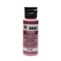 Folkart EXTREME GLITTER Multi Surface Paints NEON PINK