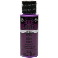 Folkart Neon Matte Acrylic Paints Neon Purple