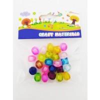 Asstd. Color Diamond Plastic Beads for Craft
