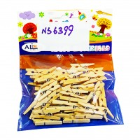 Single Color Wooden Clips for Craft