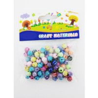 Asstd. Color Wooden Bead for Craft