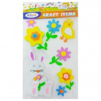 Decorative EVA Sticker Flower & Bird