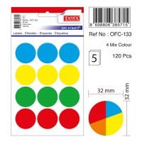 TANEX 32mm 12L Mix color circle