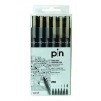 Uni Pin 200 Fine Liner PAC=06ea BK