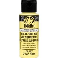 FOLKART MULTI-SURFACE Specialty Paint - PEARL LEMON SILK