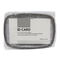 ID Card Holder Gray with Rubber