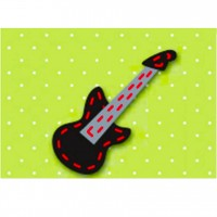 PLAID FELT BLACK GUITAR JAS
