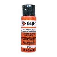 Folkart EXTREME GLITTER Multi Surface Paints PUMPKIN ORANGE