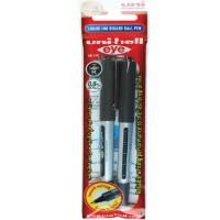 UB 150 Uni Ball Eye Micro Rollr pen Blister Pack of 2 Black