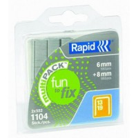 Rapid Fun to Fix Multi Pack Staples S13/6-8mm 1.1M