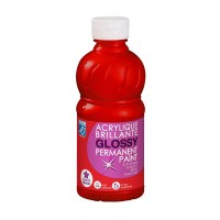 Lefranc & Bourgeois Glossy Acrylic Paint Primary Red