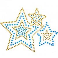 RHINESTONE MED TRIPLE STARS