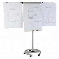 MAGNETOPLAN MOBILE FLIP CHART STAND (680mm x 970mm) DELUXE F13
