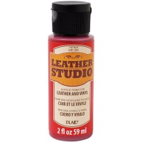 LEATHER STUDIO PAINT RUBY 2 OZ.