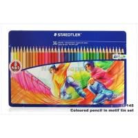Staedtler Coloured Pencils Set of 36 Color Metal Box