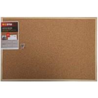 Bi-Office Cork Board 40x60cm Wooden Frame