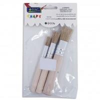 Round Design Brush 3PC Set