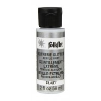 Folkart EXTREME GLITTER Multi Surface Paints SILVER