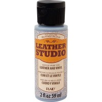 LEATHER STUDIO PAINT SILVER GLITTER 2 OZ.