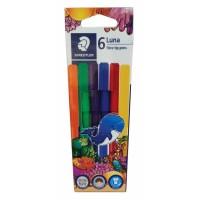 Staedtler Luna Fibre-Tipped Pen Pack of 6 Colors (327-LWP06)