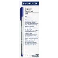 Staedtler 334-03 Triplus fineliner Blue Box of 10 Pcs