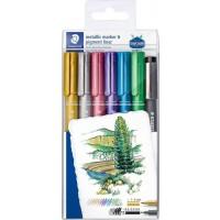 Staedtler 8323 Mettalic Marker 6Color + 1 Pigment Liner
