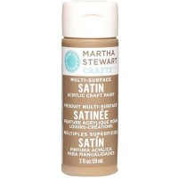 MARTHA STEWART MULTI SURFACE PAINT SATIN 2 OZ. SYCAMORE BARK